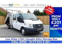 Ford Transit RARE D/C TIPPER WITH TOOL STORAGE AIR CON 115 BHP 6 SPEED ONLY 45K