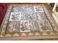 Large Aztec Cotton Weave Rug 170cm X 210cm
