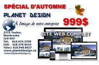 Une Site internet personnalisé www.planetdesign.ca