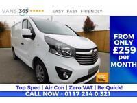 Vauxhall Vivaro NO VAT SPORTIVE AIR CON DAB RADIO CRUISE CONTROL BLUE TOOTH PLY