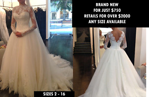 Brand new beautiful Wedding Dress - Any size - Only $750!