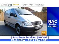 Mercedes Vito NO VAT VERY CLEAN LIGHT USE 109 CDI COMPACT SWB TWIN SIDE DOORS