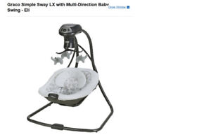 brand new: Graco Simple Sway LX with Multi-Direction Baby Swing
