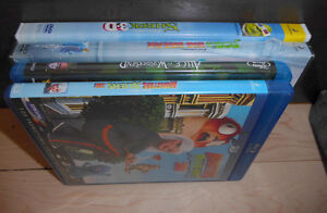 Blue Ray DVDs (Alice, Monster vs Aliens, Bob's Big Break, Shrek)