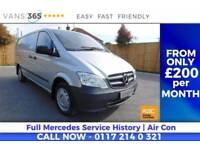 Mercedes Vito AIR CON TWIN SIDE LOADING DOORS BLUETOOTH 130 BHP 6 SPEED CDI