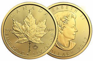2017 Maple Leaf GOLD COINS Official RCM Bullion DNA Dealer