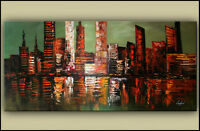New Hand Painted Cityscape Painting
