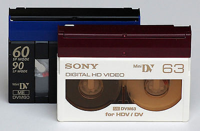 HDV mini DV video tape transfer service to digital file or Bluray or DVD