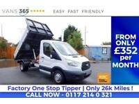 Ford Transit ONLY 26K MILES FACTORY ONE STOP ALLOY TIPPER 125 BHP 350 C/C DRW