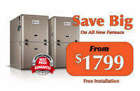 Furnace, Air Conditioner  $1699