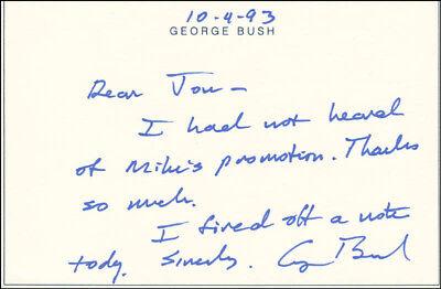 George H W  Bush   Autograph Letter Signed 10 04 1993