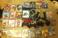 PS3 + 23 Games + 7 Controllers + Fighter Stick