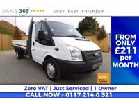 Ford Transit NO VAT FACTORY ONE STOP ALLOY LWB DROPSIDE 13FT 350 DRW