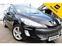 2008 08 PEUGEOT 308 1.6 SPORT HDI 5D 108 BHP! P/X WELCOME! 2 LADY OWNERS! NEW MO