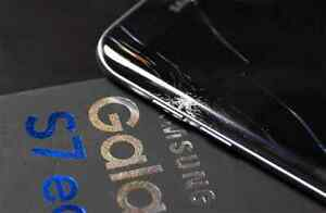 Samsung S7 edge - locked to Bell - cracked screen