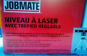 Brand new Jobmate  Laser Level with adjustable tripod West Island Greater Montréal image 3