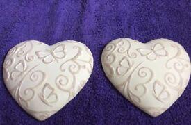 Ceramic wall hanging hearts. ❤️❤️