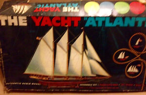 The 1905 U.S. Yacht Atlantic Sailing Ship 1950s model