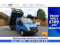 Ford Transit F/S/H 125 BHP FACTORY ALLOY ONE STOP TIPPER HEATED FRONT SCREEN 350