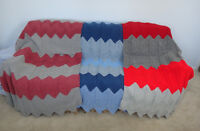 NEW, CROCHETED WOOL BLANKETS FOR DORM, HOME OR COTTAGE