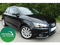 £198.98 PER MONTH BLACK 2012 AUDI A1 1.4 T FSI SPORT 3 DOOR MANUAL PETROL