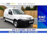 Peugeot Partner NO VAT FUEL EFFICIENT VAN SIDE DOOR P/X TO CLEAR