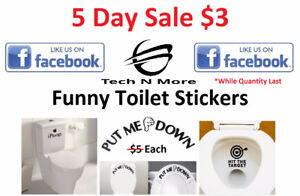 Funny Toilet Stickers (3 Options) 5 DAY SALE