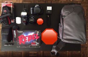 Canon Rebel T5i EF-S 18-55 IS STM Kit with Canon flash and more