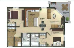 QUIET TOP FLOOR CORNER 2 BEDROOM 2 BATHROOM CONDO AVAILABLE MAY
