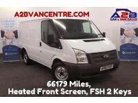 2013 63 FORD TRANSIT 2.2 99 BHP LOW MILEAGE (66,179) 6 SPEED GEARBOX,TOW BAR,