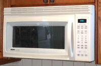 Kenmore microwave, gas stove, fridge/freezer and dishwasher