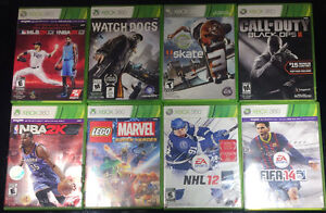 XBOX 360 JEUX  NBA2K15 CALL OF DUTY BLACK OPS 2 ETC...