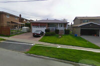 Large 3 Bed Bungalow @ Don Mills & Sheppard avail July 1