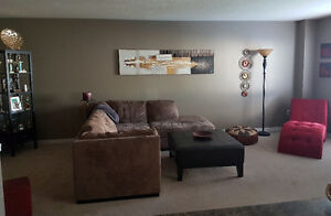 Beige Micro Fiber Sectional for Sale