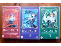 5 Anime VHS Tapes. Rayearth 1,2 ,3: Sakura wars: RG Veda