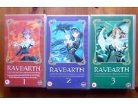 5 Anime VHS Tapes. Rayearth 1,2 ,3: Sakura wars: RG Veda