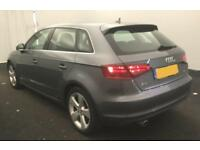 2015 GREY AUDI A3 SPORTBACK 1.6 TDI 110 SPORT DIESEL 5DR CAR FINANCE FROM 37 P/W