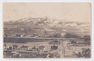 LIVINGSTON MT RPPC AERIAL VIEW OF TOWN USED 1909