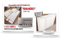 """(440-19)  ENSEMBLES DE REVÊTEMENTS """"DEMI-MÛRES""""  13.99$ / ch."""