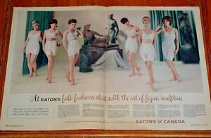 1964 EATONS CANADA WOMENS GIRDLES BRA AD - ANONCE SOUS-VETEMENTS