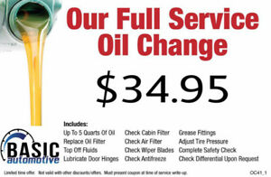 *Winter Oil Change Special*