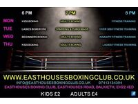 Easthouses Boxing Club. Dalkeith. Boxing. Fitness classes.