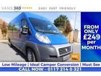 Fiat Ducato NO VAT 39K MILES IDEAL CAMPER CONVERSION..? 160 BHP £165 12 MON
