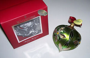Waterford Holiday Heirloom Chartreuse Tramore Drop Ornament London Ontario image 1