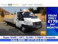 Ford Transit FACTORY 19FT DROPSIDE NEW MOT 115BHP 6 SPEED PERFECT SCAFFOLD/FENCI