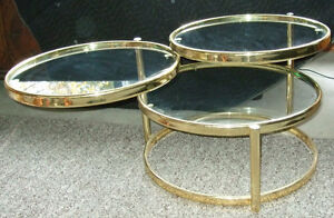 Decorative Articulate matching coffee and side tables Strathcona County Edmonton Area image 3