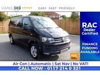 VW Transporter NO VAT FACTORY 201BHP HIGHLINE AIR CON SAT NAV AUTO DSG HEATED SC