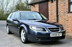 2008/58 SAAB 9.5 ESTATE CAR TURBO EDITION. 62000 MILES FULL SERVICE HISTORY.