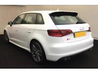 2015 WHITE AUDI S3 SPORTBACK 2.0 TFSI 300 QUATTRO 5DR AUTO CAR FINANCE FR £88 PW