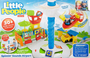 NEW:Fisher-Price Little People Spinning' Sounds Airport Baby Toy